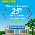 Sherwin Williams Paint Sale – January 2013