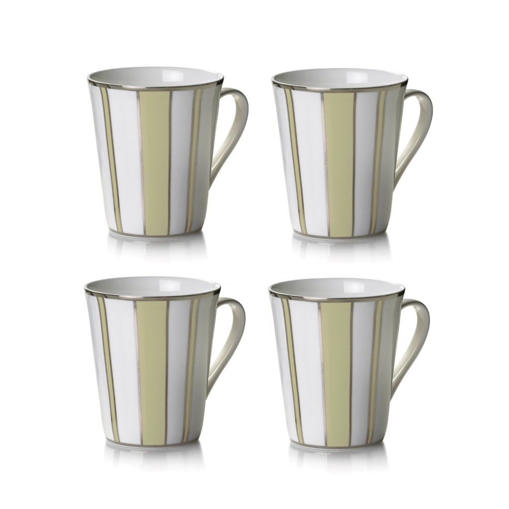 ivory striped mug