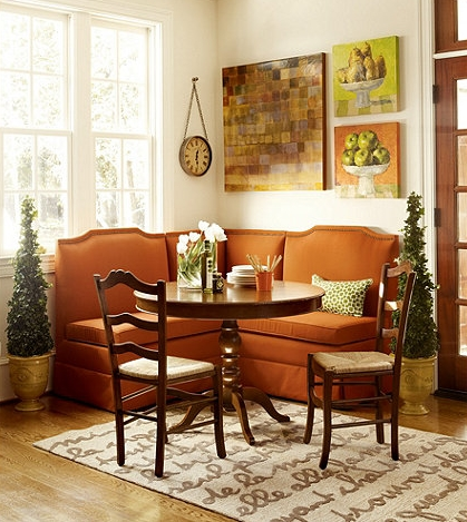 What is banquette seating a little design help for Ballard designs bench seating