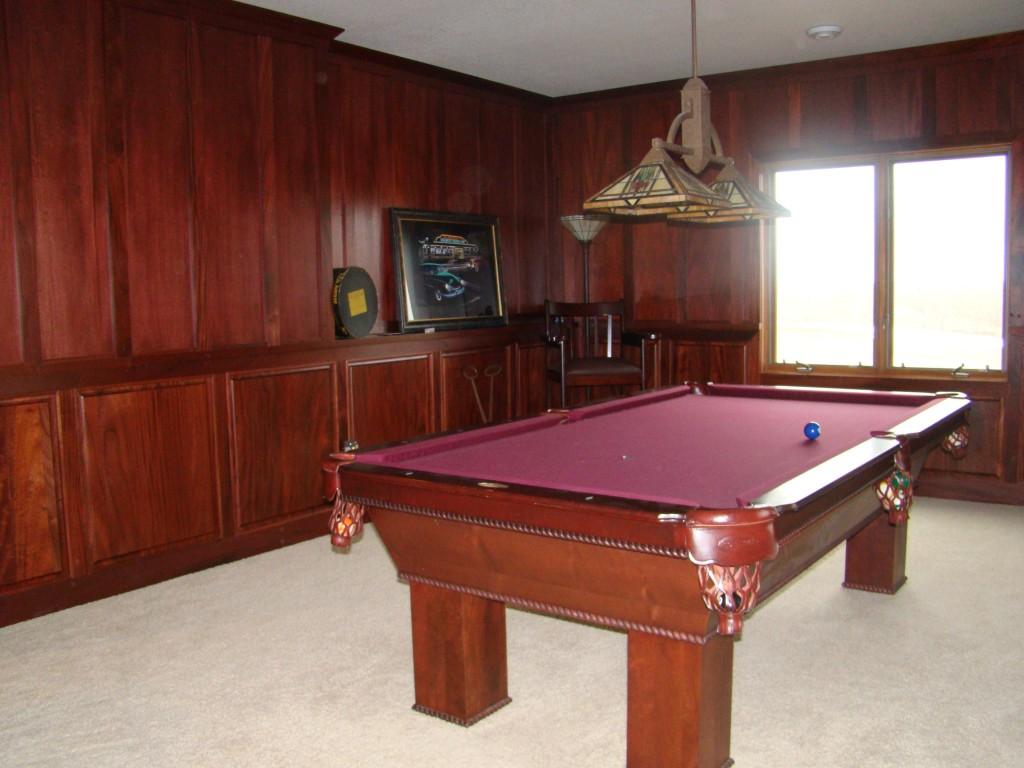 Billiard room after