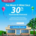 Sherwin Williams Make it Mine Sale, March 2013