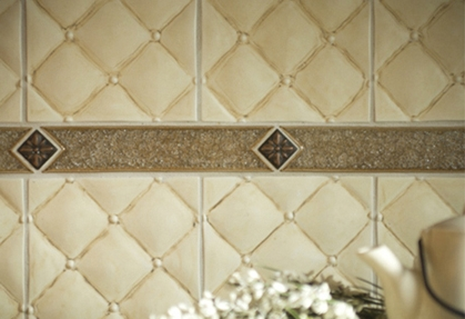 or accent your backsplash with these metal quilted tiles from metal