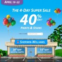 Sherwin Williams Paint Sale – April 2013