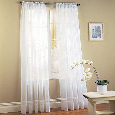 sheer curtain or drape