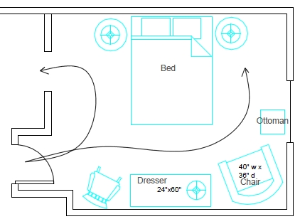 Easy Bedroom Layout