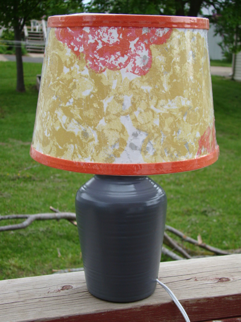mauve lamp after makeover