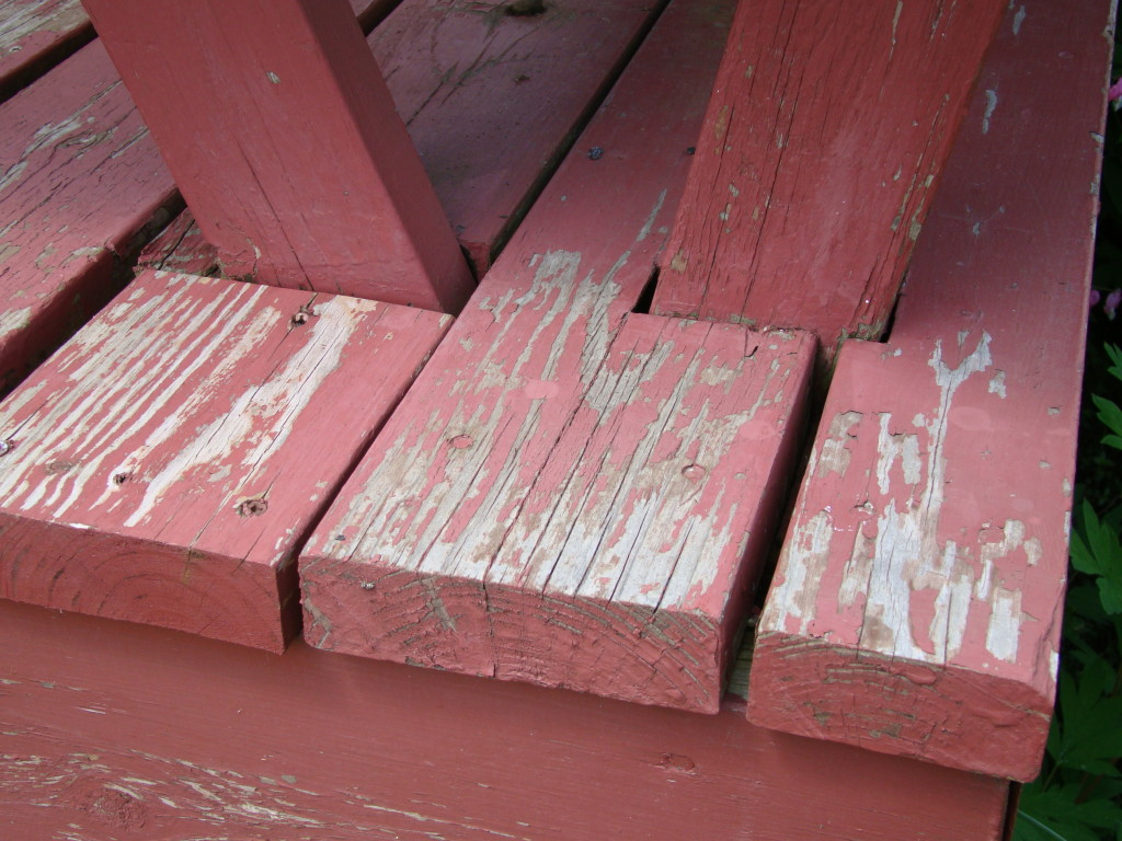 flaking opaque stain deck