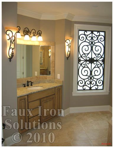 faux iron bathroom