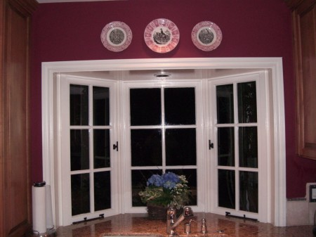 plates above window