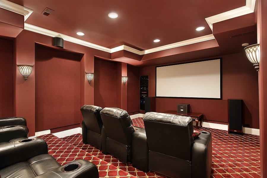 Guest post how to choose a color scheme for your home theater a little design help - Best paint color for home theater ...