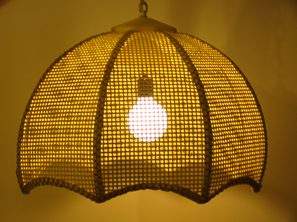 vintage light fixture hanging