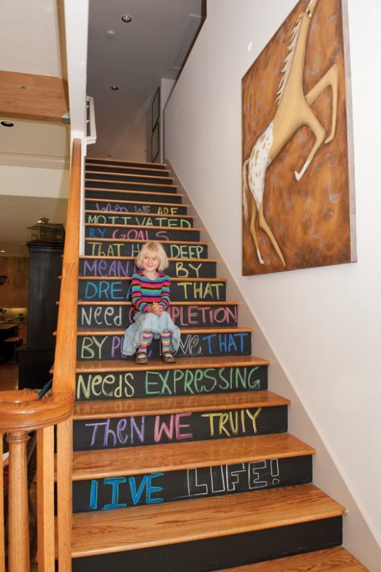 Chalkboard Stair