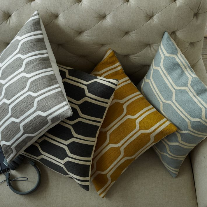 hexagon pillows