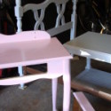 Before & After:  Cute Pink Vanity Set