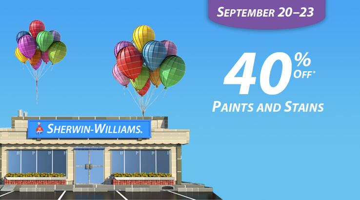 fall paint sale