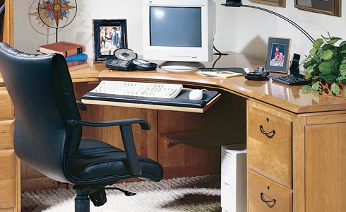 Harden corner desk