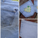 Before and After: Upcycled Jeans