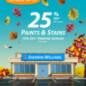 Sherwin Williams Paint Sale – Fall 2013