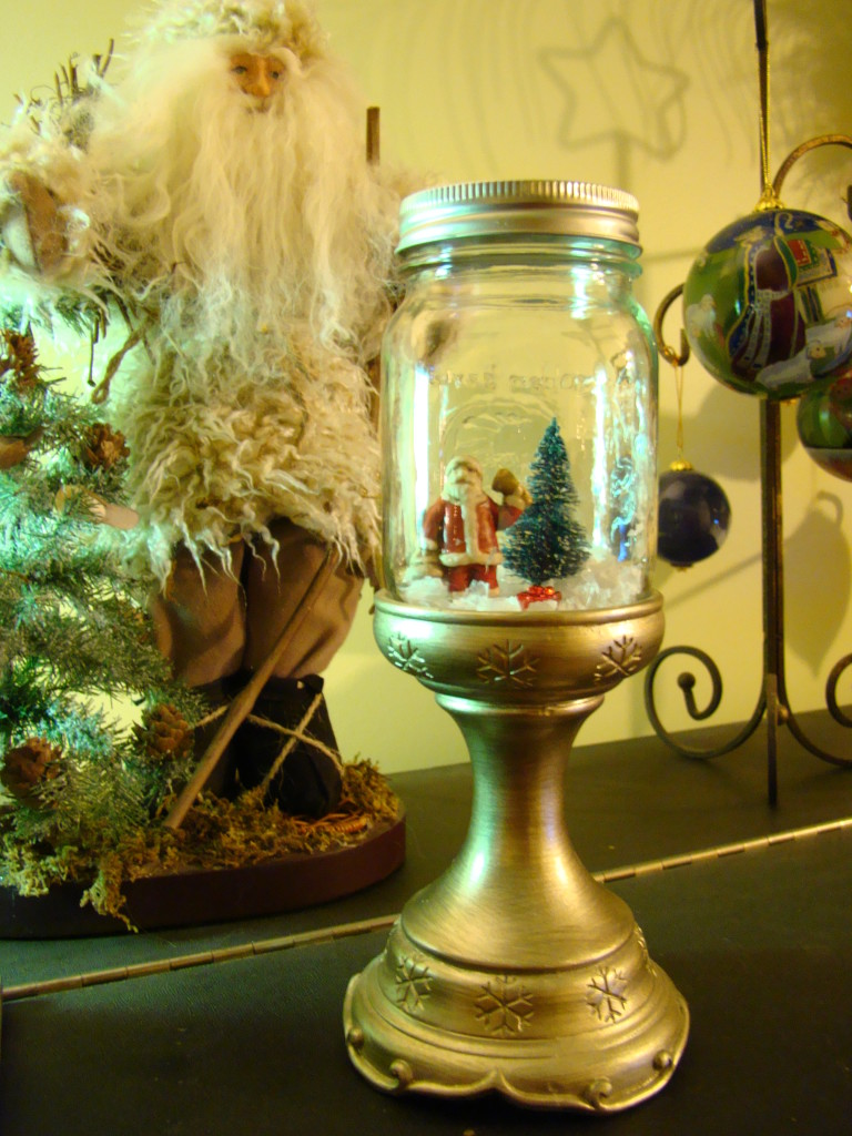 holiday snow scene jar