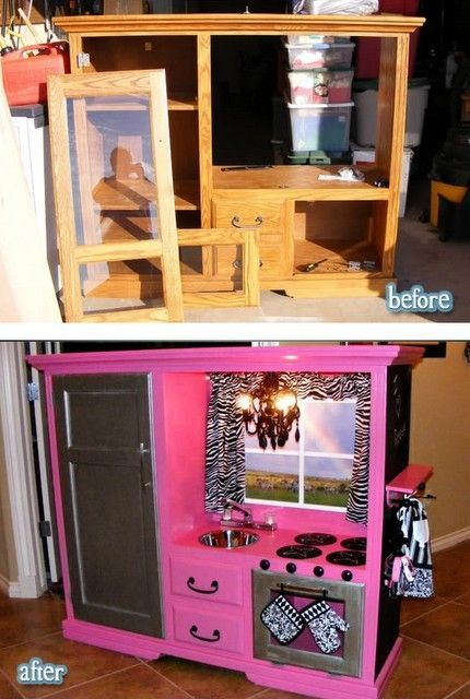 kid kitchen upcycle
