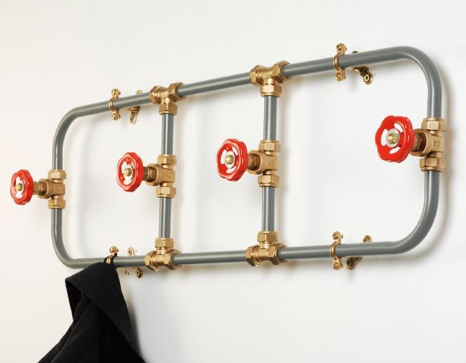 plumbing coat rack
