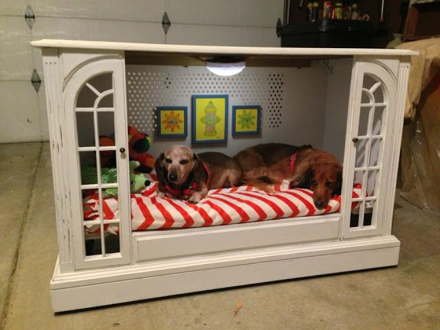 TV cabinet dog bed