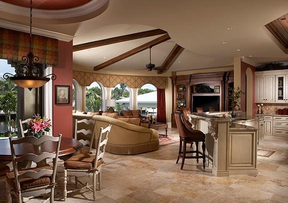 open floor plan decor