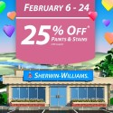 Sherwin Williams February 2014 Paint Sale