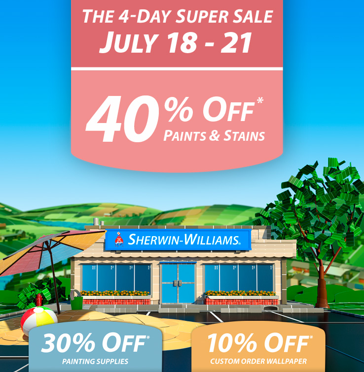 SHERWIN WILLIAMS 40 OFF SALE APRIL 2019