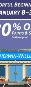 Sherwin Williams Paint Sale - January 2015