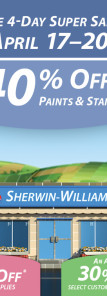 Sherwin Williams Spring Paint Sale 2015