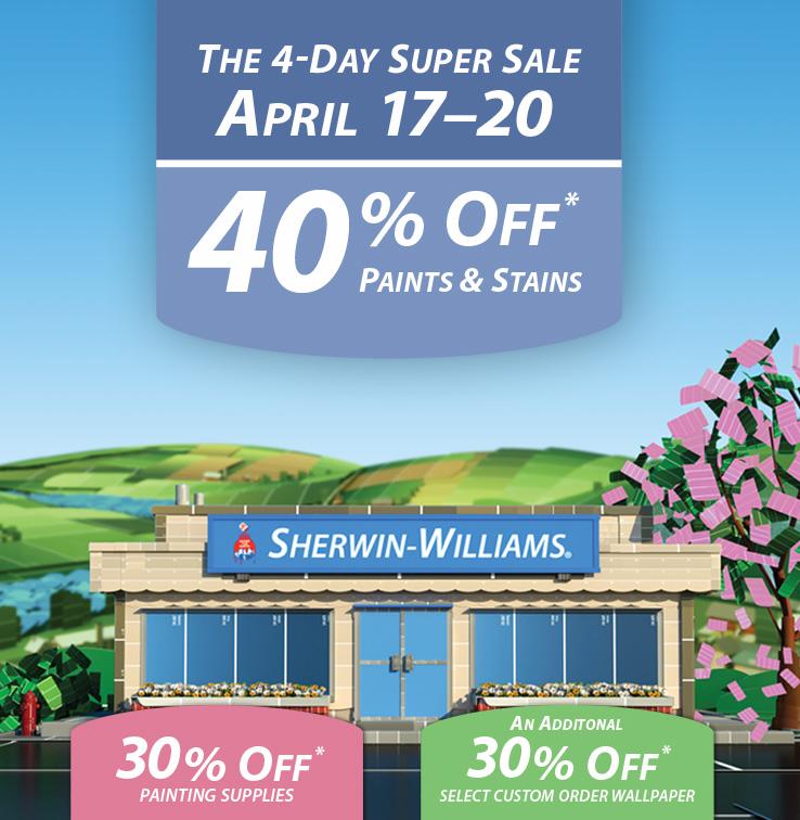 SW Spring 2015 Paint Sale