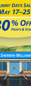 Sherwin Williams Sunny Days Paint Sale 2015