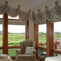 Before and After:  Challenging Arched Window Valance