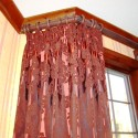 Before and After:  Drapery Panels on a Bay Window