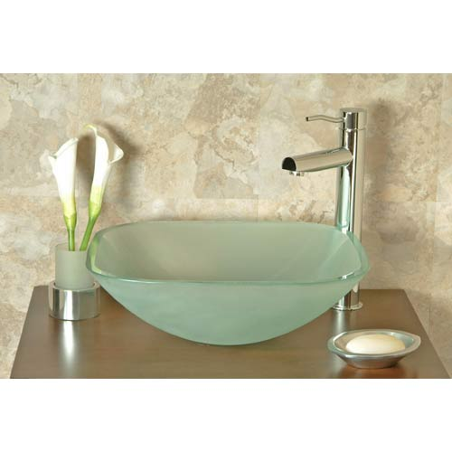 Frosted Gl Vessel Sink Upgrade Your Bath For Choosing A Little Design