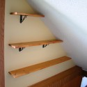 Before & After:  DIY Stairway Shelves