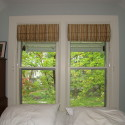 Before and After:  Bedroom Roman Shade