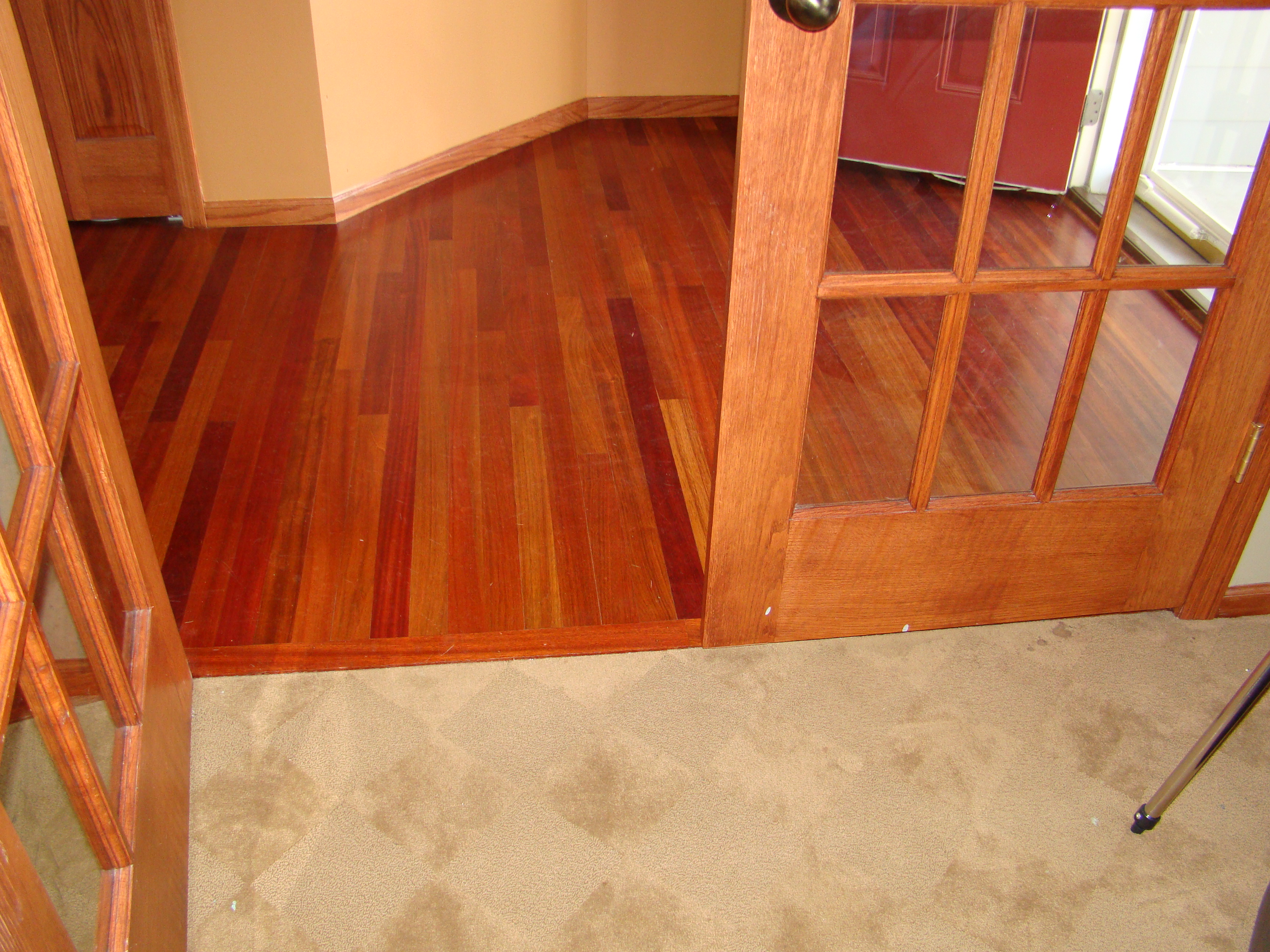 What type of hardwood floor finish do i have home fatare for What kind of house do i have