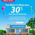 Sherwin Williams Make it Mine Sale, March 2013