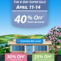 Sherwin Williams April Super Paint Sale 2014