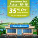 Sherwin Williams Anniversary Sale – August 2014