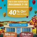 Sherwin Williams Paint Sale – November 2014